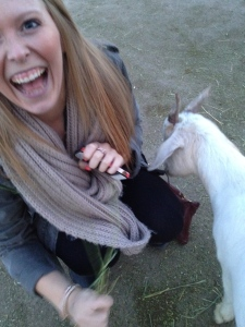 The goat tried to eat my jacket...we got off on the wrong foot.